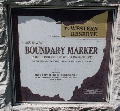 The Western Reserve Marker image. Click for full size.