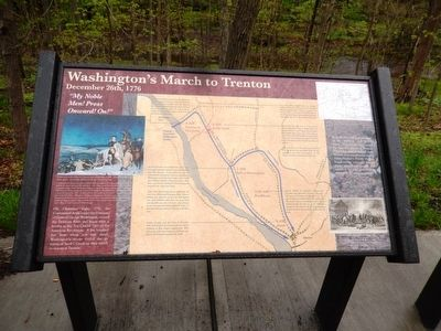 Washington's March to Trenton Marker image. Click for full size.