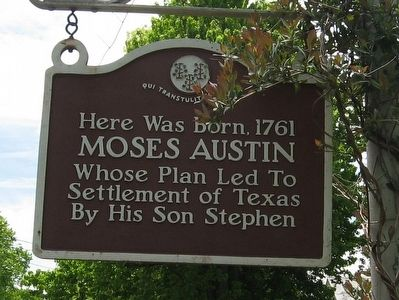 Moses Austin Birthplace Marker image. Click for full size.