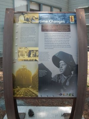 Wartime Changes Marker image. Click for full size.