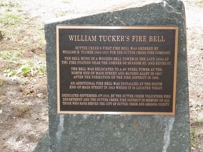 William Tucker's Fire Bell Marker image. Click for full size.