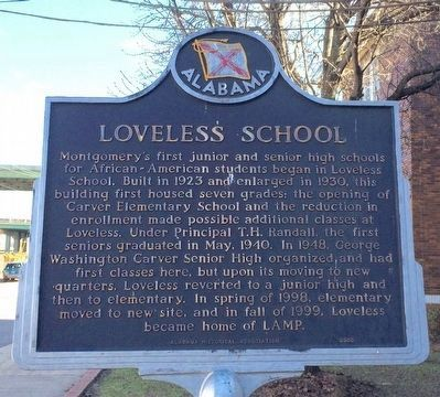 Loveless School Marker image. Click for full size.