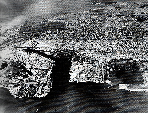 Kaiser Shipyard #3, on the bottom left, and Richmond in 1944