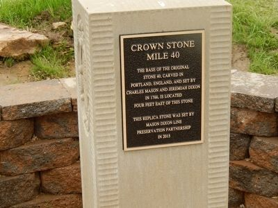 Crown Stone Mile 40 Marker image. Click for full size.