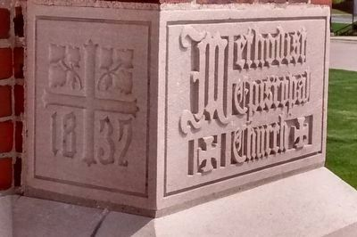 Fenton United Methodist Church Cornerstone image. Click for full size.