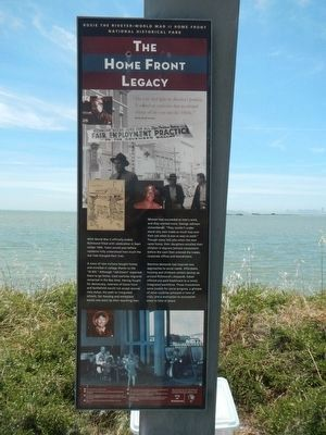 The Home Front Legacy Marker image. Click for full size.