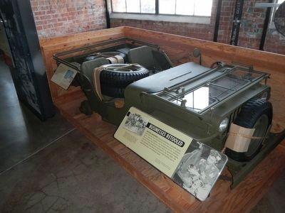 Crated Jeep -- exhibit at the Rosie the Riveter Visitor Education Center image. Click for full size.