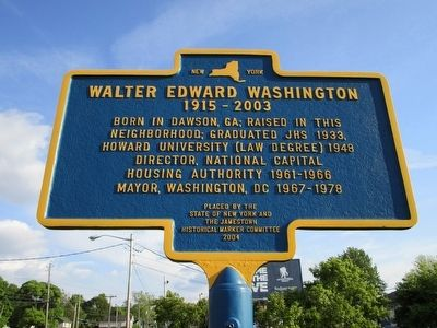 Walter Edward Washington Marker image. Click for full size.