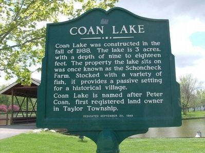 Coan Lake Marker image. Click for full size.