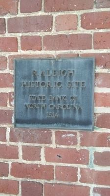 Raleigh historic site State Bank of North Carolina 1814 image. Click for full size.
