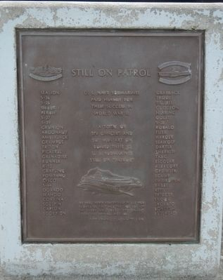 Still on Patrol Memorial image. Click for full size.