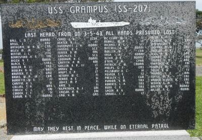 USS Grampus (SS-207) Memorial image. Click for full size.