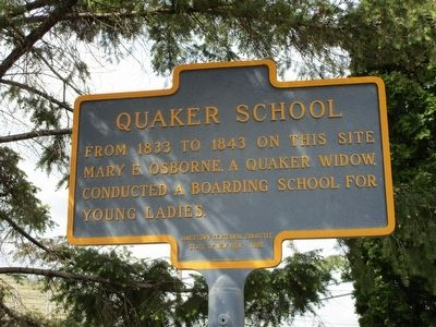 Quaker School Marker image. Click for full size.