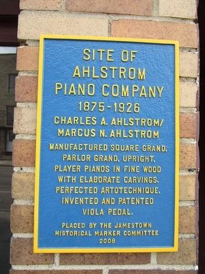 Site of Ahlstrom Piano Company Marker image. Click for full size.
