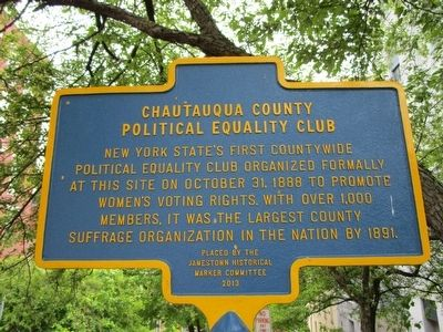 Chautauqua County Political Equality Club Marker image. Click for full size.