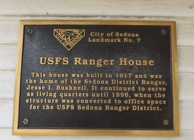 USFS Range House Marker image. Click for full size.