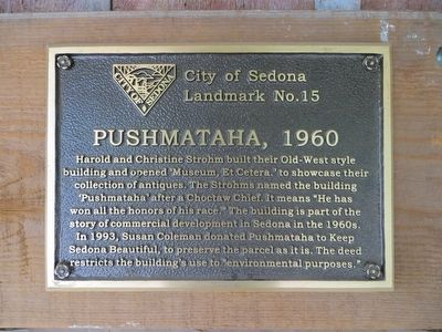 Pushmataha, 1960 Marker image. Click for full size.