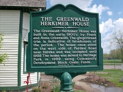 The Greenwald Herkimer House Marker image. Click for full size.