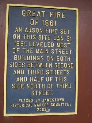 Great Fire of 1861 Marker image. Click for full size.