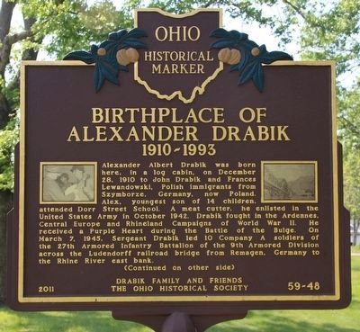 Birthplace of Alexander Drabik Marker image. Click for full size.