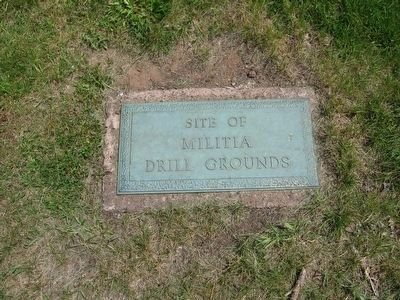 Site of Militia Drill Grounds image. Click for full size.