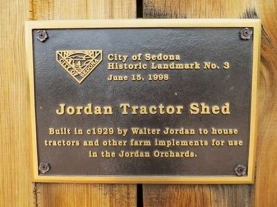 Jordan Tractor Shed Marker image. Click for full size.