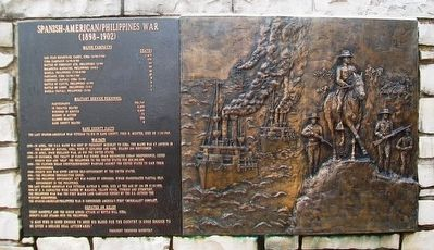 Spanish-American/Philippines War Marker and Relief image. Click for full size.