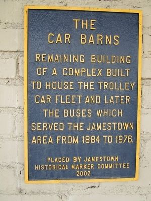 The Car Barns Marker image. Click for full size.