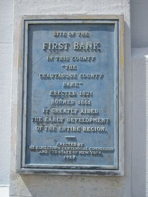 First Bank Marker image. Click for full size.