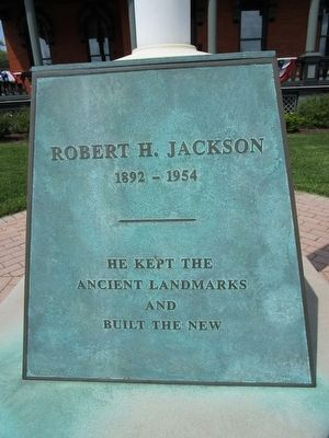 Robert H. Jackson Marker - Front image. Click for full size.