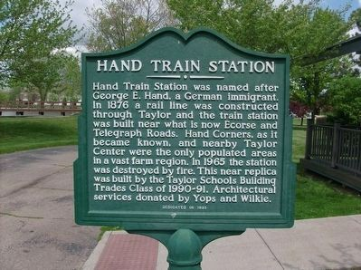 Hand Train Station Marker image. Click for full size.