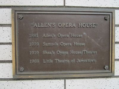 """Allen's Opera House"" Marker image. Click for full size."