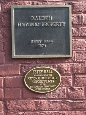 Estey Hall Marker image. Click for full size.