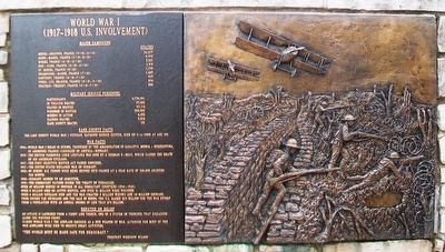 World War I Marker and Relief image. Click for full size.