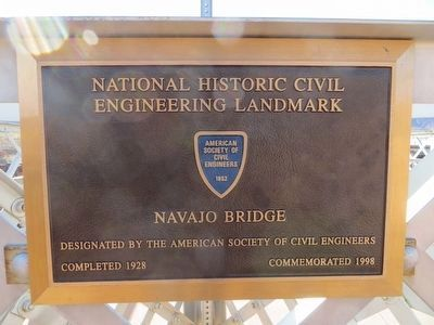 Navajo Bridge Marker image. Click for full size.