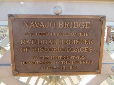 Navajo Bridge Marker image, Touch for more information