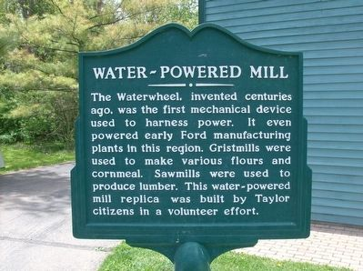 Water-Powered Mill Marker image. Click for full size.