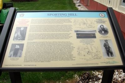 Sporting Hill Marker image. Click for full size.