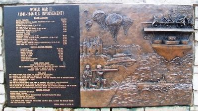 World War II Marker and Relief image. Click for full size.