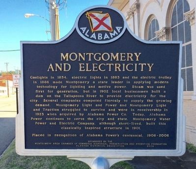 Montgomery and Electricity Marker image. Click for full size.