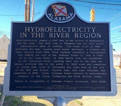Hydroelectricity in the River Region Marker image. Click for full size.
