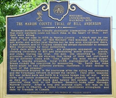 The Marion County Trial of Bill Anderson Marker image. Click for full size.