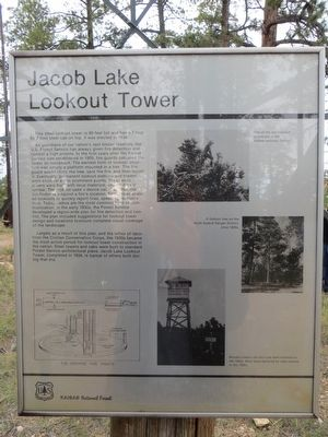 Jacob Lake Lookout Tower Marker image. Click for full size.