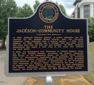 The Jackson-Community House Marker image. Click for full size.