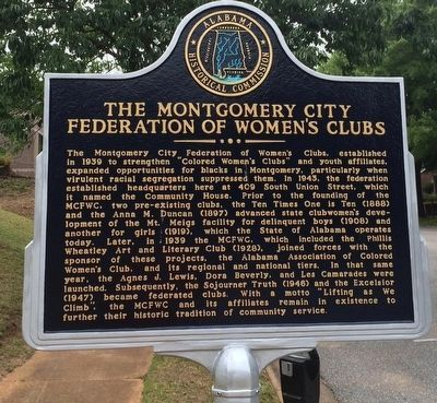 The Montgomery City Federation of Women's Clubs Marker image. Click for full size.