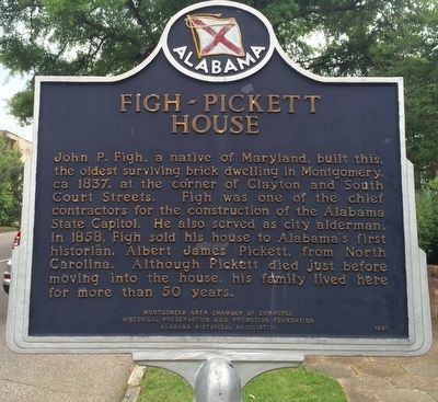 Figh-Pickett House Marker image. Click for full size.