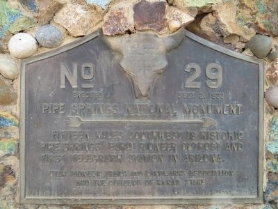Pipe Springs National Monument Marker image. Click for full size.