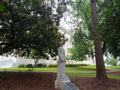 Wide area view of Albert L. Patterson statue. image. Click for full size.