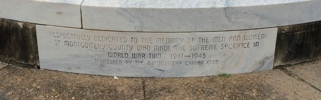 Montgomery County World War II Monument image. Click for full size.