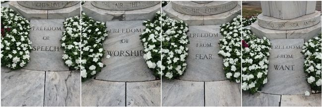 World War II Monument Four Freedoms image. Click for full size.